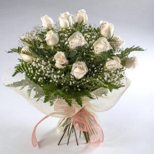 Ramo de 20 rosas blancas