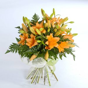 Ramo de lilium naranja