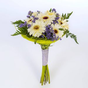 Bouquet gerbera blanca